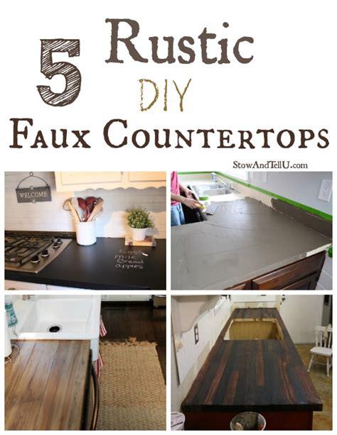 rustic diy faux countertops stowtellu