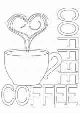 Coffee Coloring Cat Printable Categories Similar sketch template