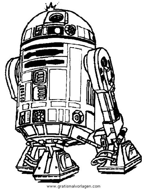 Droide R2-D2 gratis Malvorlage in Science Fiction, Star ...