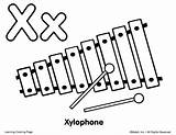 Xylophone Coloring Clipart Drawing Para Draw Pages Ingles Colorear Dibujo Instruments Musical Imagen Colouring Easy Pintar Sketch Music Template Instrumentos sketch template
