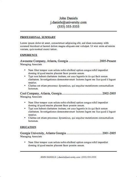 resumes templates free basic http www resumecareer