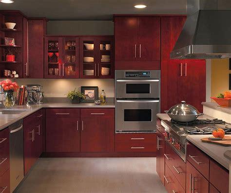 burgundy kitchen cabinets  homecrest cabinetry cherry