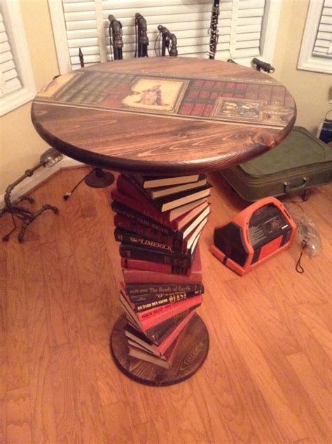 upcycled book table ideas upcycle art