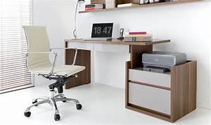 Bureau Avec Rangement : bureau design avec rangement modulable amnager son espace bureau ~ Teatrodelosmanantiales.com Idées de Décoration