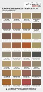 Butterfield Select Grade Integral Concrete Color Chart