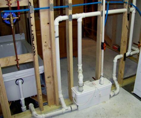 installing  basement toilet basement shower drain