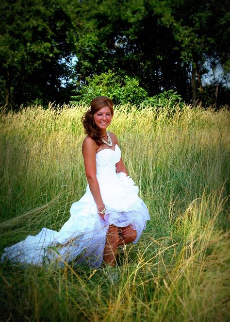 country wedding dress love the simple grass background