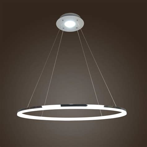 Large Circular Chandelier by 80 Cm Modern Large Led Silver Ring Chandelier Pendant
