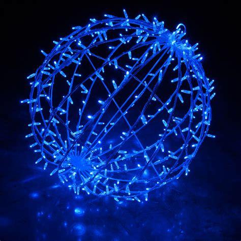 blue led commercial mega sphere christmas light ball