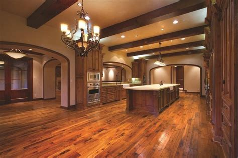 tuscan walnut plank traditional kitchen orange