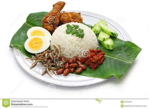 photo cuisine nasi lemak coconut rice malaysian cuisine stock