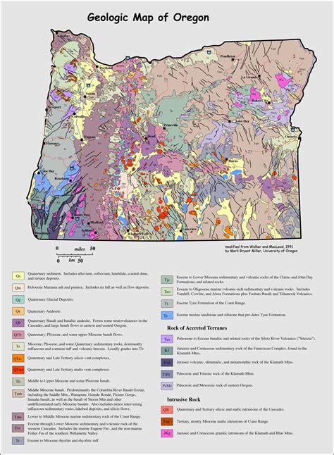 Geologic Map Of Oregon Geology Pics