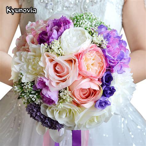 romantic wedding bouquet mixed colors brooch bouquet
