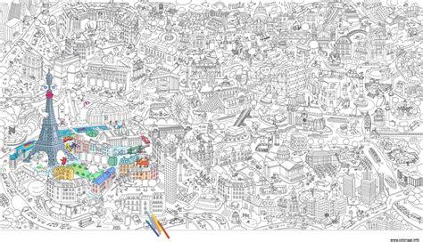 coloriage xxl ville de paris france jecoloriecom
