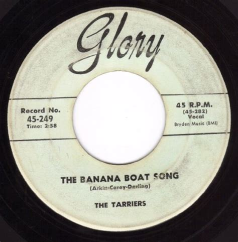 Boat Song Ringtone by Tarriers The Banana Boat Song Cd Covers