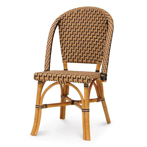 wicker patio chairs palecek patio bistro chair 7533