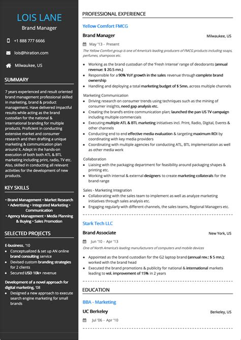 Brand Marketing Manager Resume Format by Combination Resume The 2019 Guide To Combination Resumes