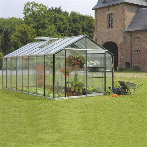 serre de jardin en verre tremp 233 affinity 18 236 m 178 leroy merlin