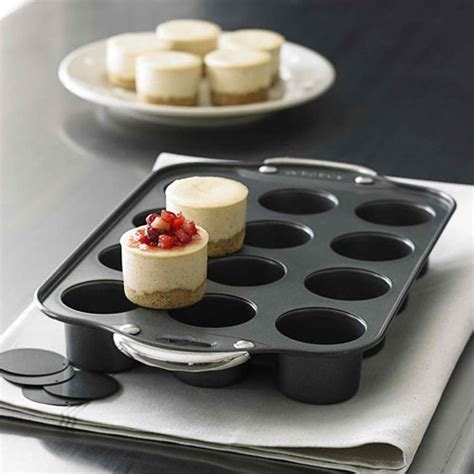 how to make mini cheesecakes norpro mini cheesecake pan baked quiches tartlets muffins hors d oeuvres and more slide right