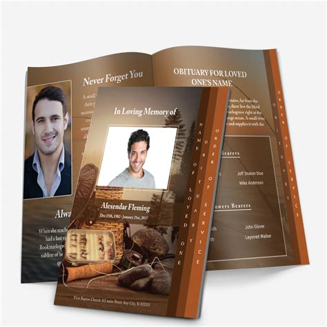 step fold funeral programs