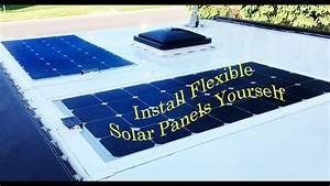 Semi Flexible solar panel installation on RV roof How to ...