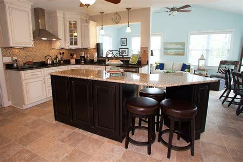 kitchen island space kitchen in newport virginia has custom cabinets