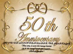 Faire Part Anniversaire 50 Ans : cartes invitation anniversaire de mariage 50 ans ~ Edinachiropracticcenter.com Idées de Décoration