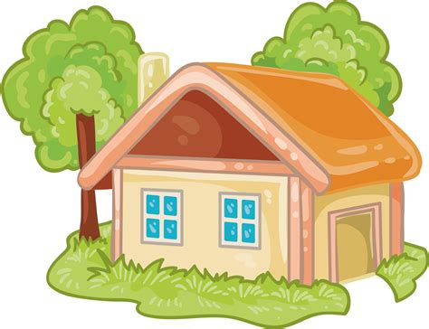 House Cartoon Log cabin - Cartoon house png download ...