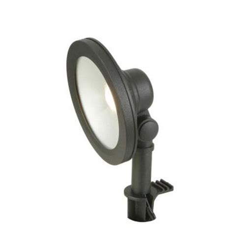 hton bay low voltage led black outdoor wall wash light