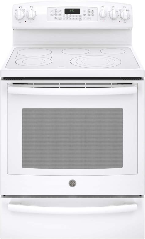 pbthww ge profile series   standing electric convection range  warming drawer