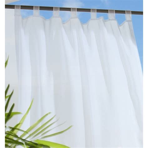 Sheer Patio Curtains Outdoor by Commonwealth Outdoor Curtains Escape Sheer White 70427
