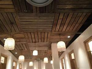 Pallet wood ceiling ideas pallets designs for Wood ceiling ideas