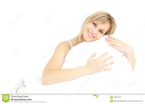 Hugging Pillow by Smiling Hugging Pillow Stock Photo Image 13861318