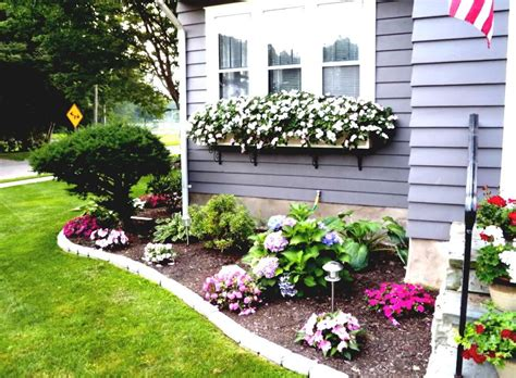 flower bed ideas  front  house  front yard