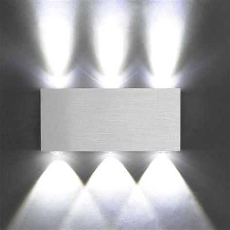 modern aluminum 6 led 6w up wall lights for living