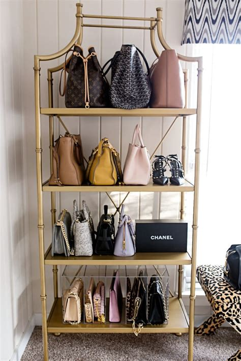 closet handbag organizer closet office organization chronicles of frivolity