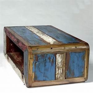 Table Basse Vintage : table basse vintage bois de bateau recycl pas cher en vente chez origin 39 s meubles ~ Teatrodelosmanantiales.com Idées de Décoration