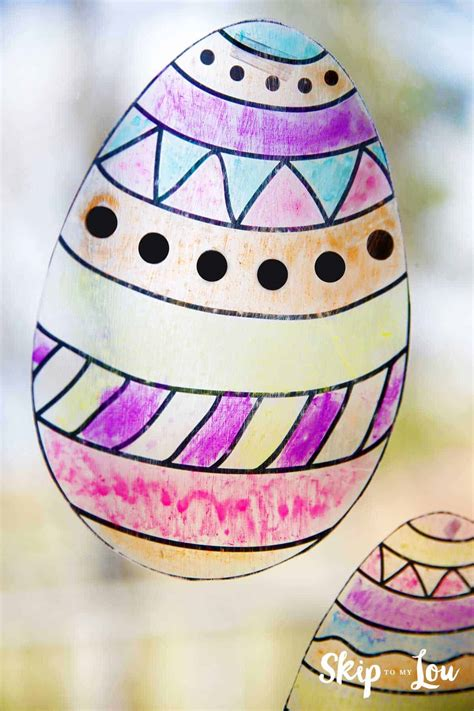 easter egg suncatcher skip   lou