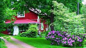 Download Wallpaper 1920x1080 house, garden, yard, flowers ...