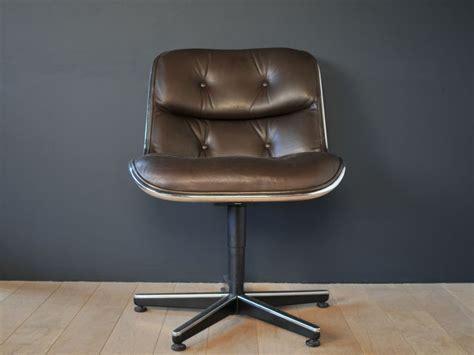 fauteuil bureau knoll fauteuil charles pollock vintage cuir noir maison