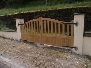 Comment Poser Un Portail : pose d 39 un portail en bois autre angle ~ Premium-room.com Idées de Décoration