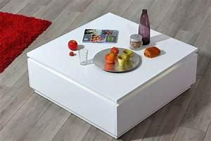 Table Laqué Blanc : table basse electra laque blanche blanc brillant ~ Teatrodelosmanantiales.com Idées de Décoration