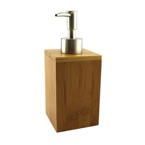 homex bamboo soap dispenser homex