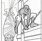 Spiderman sketch template