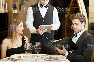 Waiter Taking Couples Order At A Fancy Restaurant Stock Photo - Download Image Now - iStock