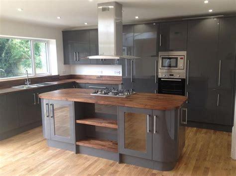 ideas for kitchen worktops grey kitchen walnut worktop search kitchen