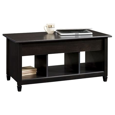 The arts and crafts style home will be complemented by a mission style coffee table. Edge Water Lift Top Coffee Table Estate Black - Sauder   Black coffee tables, Coffee table with ...