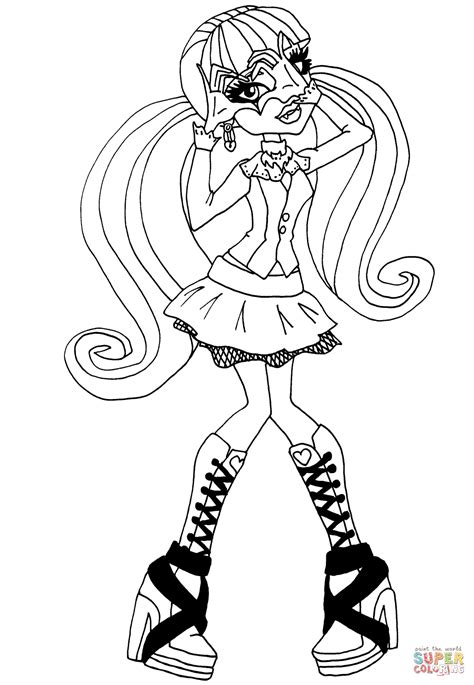Monster High Draculaura coloring page Free Printable