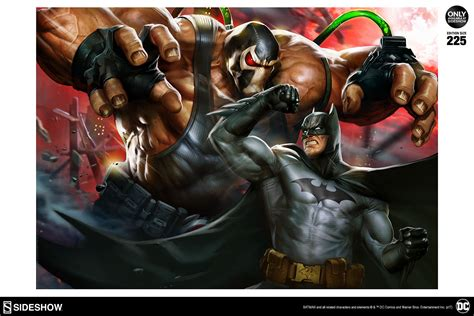 Batman Vs Bane Premium Art Print Sideshow Collectibles