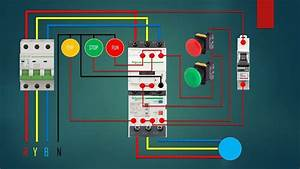 Three Phase Dol Starter Control   Overload Indicator And